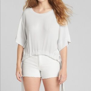 Gap light knit side bow top t shirt